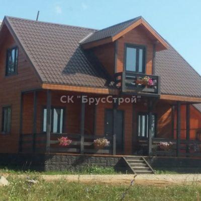 Дом 6х9 из профилированного бруса, Адрес: Клинский район, деревня Соголево.