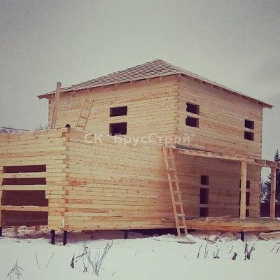 Дом 15х10 из бруса, Адрес: Серпуховской район, Деревня Нижнее Шахлово