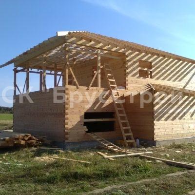 Дом из профилированного бруса камерной сушки ,с размером  14м х 8.80 м, построенный в Калужской обл. д Еловка