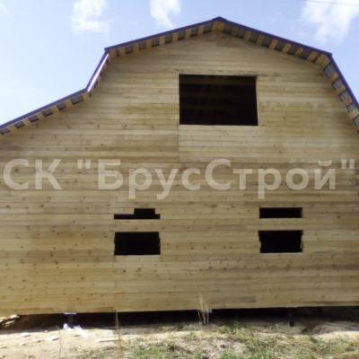 Дом под усадку с террасой из профилированного бруса с размером  9м х 8м.Адрес: Тверская обл. Вышний волчёк