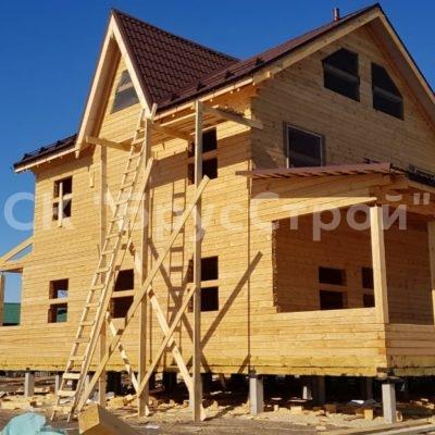 Строительство дома из бруса г. Серпухов (март 2020)