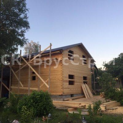 Дом из профилированного бруса 145х195 в г Волоколамск (7.50 м х 8.50 м) по проекту заказчика